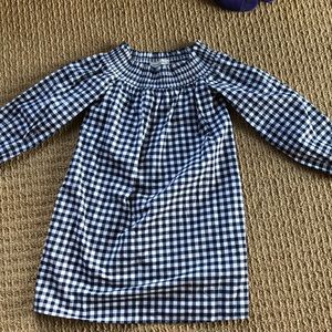 Abercrombie XS off shoulder gingham dress